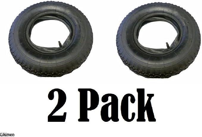 Pack de 3-4.00-8 4.80//4.00-8 Brouette Pneu Et Tube Intérieur