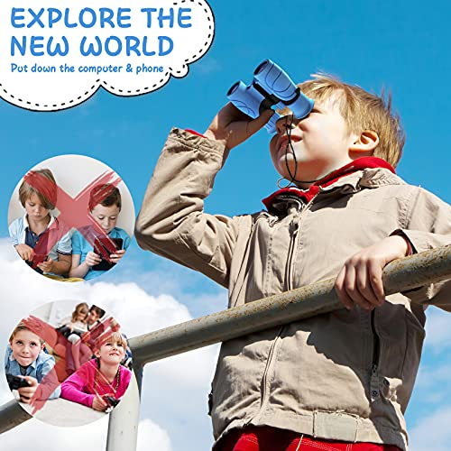 UTTORA Binoculars for Kids Best Gifts for 4-12 Years Boys Girls Shock Proof Toy Magnification 8X21 Binoculars for Bird Watching,Educational Learning,Hunting,Hiking,Travel, Camping,Birthday Presents
