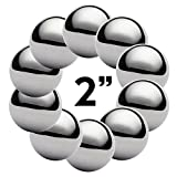West Coast Paracord 2 Inch Chrome Steel Bearing Balls for Paracord Projects (10 Pack)