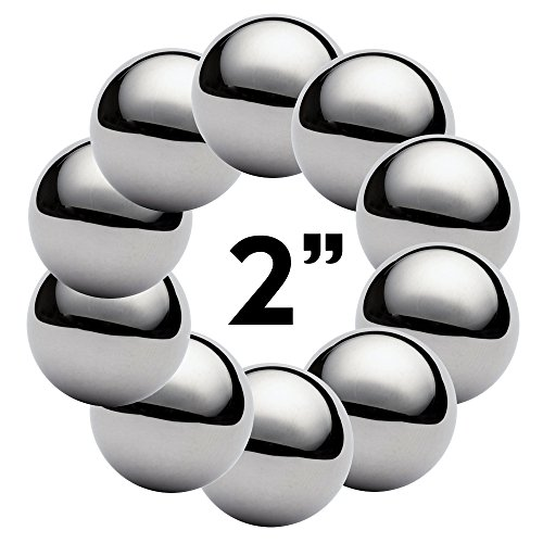 West Coast Paracord 2 Inch Chrome Steel Bearing Balls for Paracord Projects (10 Pack) by West Coast Paracord