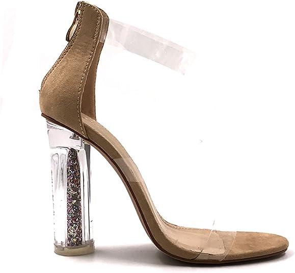 CHIC NANA . Chaussure Femme Mode Bottine à Talon Transparent