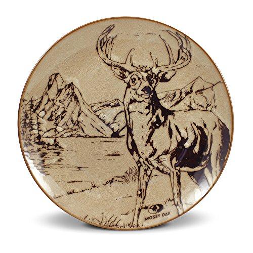 Mossy Oak Animal Print Deer Dinner Plate, 11-Inch