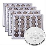 SkoTeRy 4 X 25 Pack CR2032 Lithium Battery 3V CR 2032 Coin Cell 230mAh Bulk