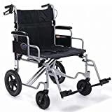 Everest & Jennings Bariatric Transport Chair, 24 Feet Seat, Silver