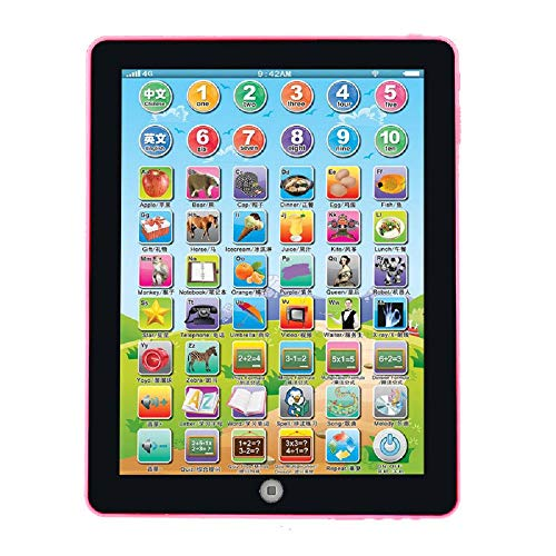 Cigou Child Kids Computer Tablet Chinese English Learning Study Machine Toy (B) from Cigou_❤️Toys and Hobbies