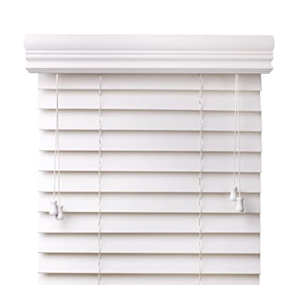 white faux wood blinds Amazon.com: Arlo Blinds Snow White 2 Inches Faux Wood Horizontal  white faux wood blinds