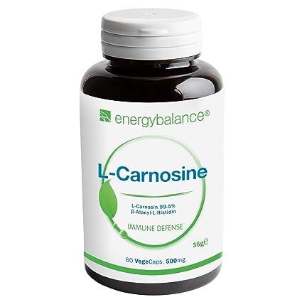 L-Carnosina 500mg | Antioxidante | Vegano | Sin OGM | Sin ...