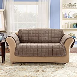 Sure Fit Deluxe Pet Cover  - Loveseat Slipcover  - Sable (SF39226)