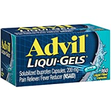 Advil Liqui-Gels (160 Count) Pain Reliever/Fever Reducer Liquid Filled Capsule, 200mg Ibuprofen, Temporary Pain Relief