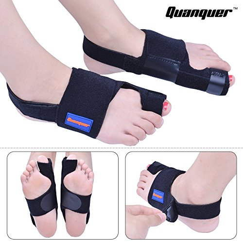 Bunion Corrector by Quanquer [Pair] - Bunion Splint Toe Straightener Brace for Hallux Valgus Pain Relief Fits Men & Women by Quanquer (Image #5)