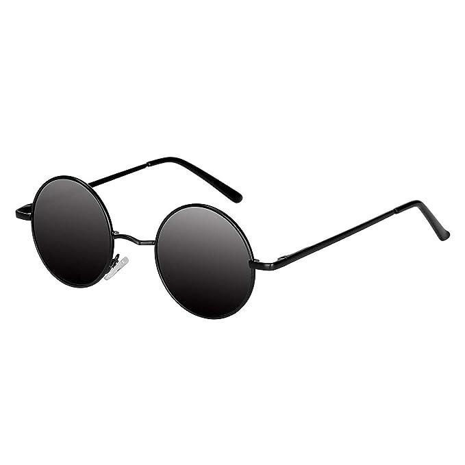 Amazon.com: Aoron Lennon lentes de sol redondas polarizadas ...