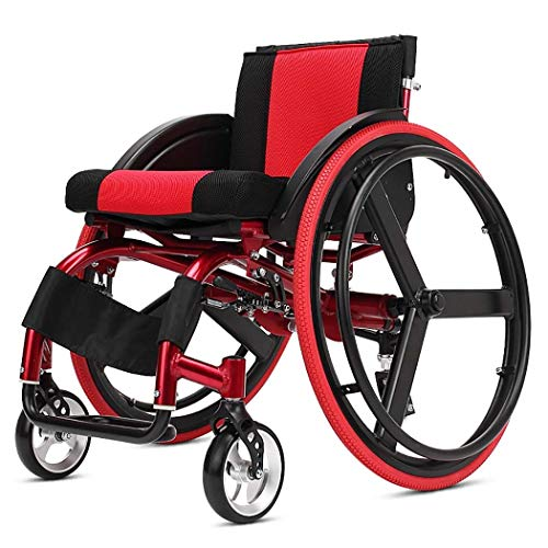 DPPAN Drive Medical Transport Athletic Wheelchairs Lightweight Folding, Strong and Sturdy Aluminum Alloy Elevating Leg Rests,15' Seat