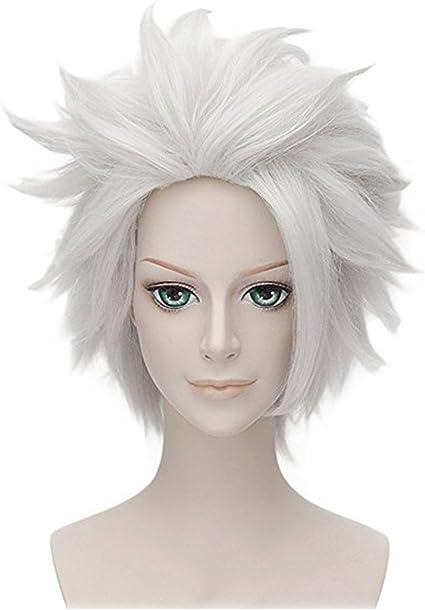 Falamka nueva capa plata blanco Hatake Kakashi Naruto Cosplay ...