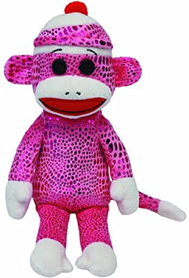 Ty Beanie Babies Sock Monkey Purple Sparkle Plush