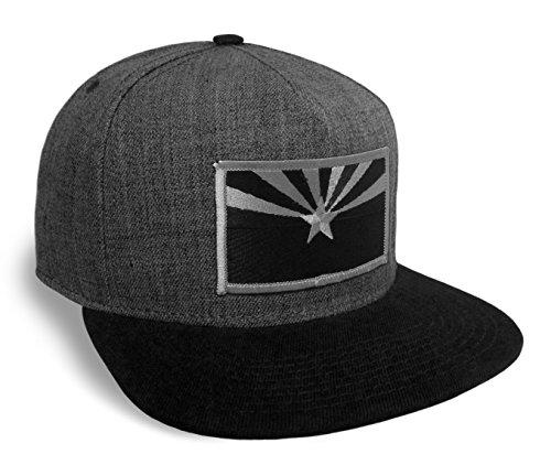 Arizona Flag (Strange Cargo Arizona State Flag Black and Grey Classic Baseball Cap Flat Brim Hat Snapback)