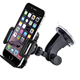 Car Mount, GFKing® Smartphone Car Mount Holder Cradle for Amazon Fire Phone and iPhone 6 6+ 6s 6s+ SE 5 5S 5C 4 4S ,Samsung Galaxy S5 S4 S3 ,Note 3 and all Smartphones …
