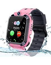 Kids GPS Tracker Horloge,IP68 Waterdichte Kids Smartwatch met GPS Tracker Telefoon Wekker Game Camera Compatibel met 2G T-Mobile Verjaardagscadeau voor kinderen