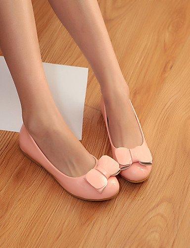 PDX/de zapatos de de de mujer piel sintética talón plano punta redonda Flats Casual verde/rosa/blanco a2f5bc