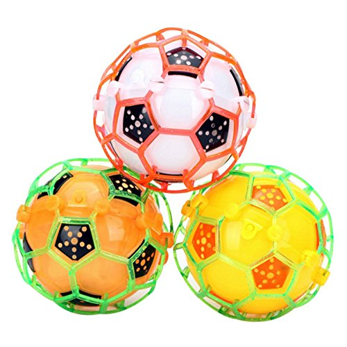 Ball Music Book - GreenSun TM 1Pcs LED Light Jumping Bounce Ball Crazy Music Lighting Football Shape Funny Bouncing Ball Night Playing Toy Random Color