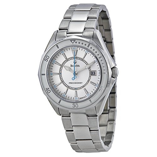Bulova Precisionist Stainless Steel Mother-of-Pearl Watch - 96M123