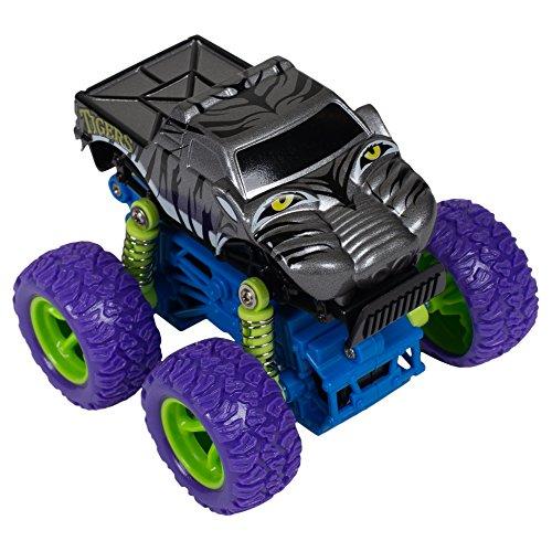 Master Toys & Novelties Tigers Mini Quad Racer Black/Purple 4WD 4x4 S Plus Plastic 3.5 x 3 Inch Monster Rally Car Toy