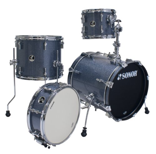 Sonor Drums SSE 12 SAFARI C1 BGS 4-Piece Drum Set with Black Galaxy Sparkle Finish