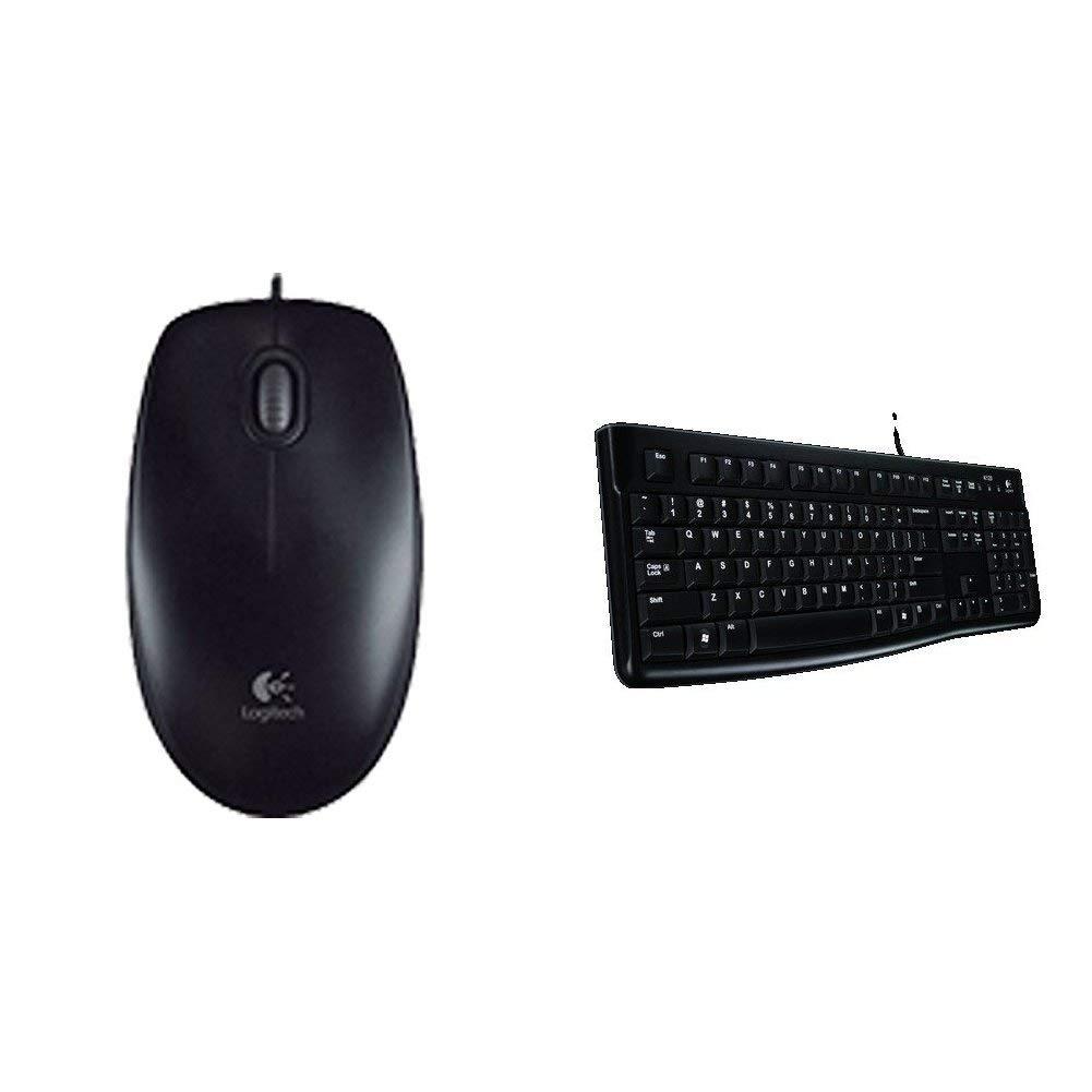 400b19aa9aa Logitech B100 Optical USB Ambidextrous Mouse for Windows, Mac and Linux -  Black + Logitech K120 Keyboard for Windows and Linux - QWERTY, ...