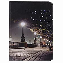 For Samsung Galaxy Tab 4 10.1 / T530 Case, Ougger Wallet Cover Card Slot Premium PU Leather Flip Case Magnetic Bumper Pouch Holster Stand-View Function (Scenery)