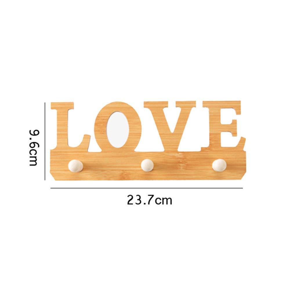 Joeesun Appendiabiti in legno decorativo portachiavi a parete cappotto gancio bagno di stoccaggio titolare portasciugamani porta appendiabiti mensola a muro organizzatore