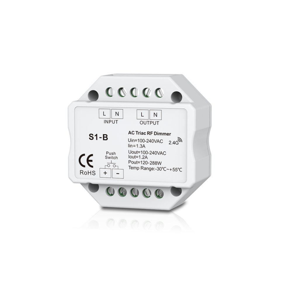 AC Triac DMX Dimmer Two Channel Output 2 Channel Dimmer Triac Dimmable and Mosfet Dimmable Input Voltage 100-240VAC Output voltage 2 x 100-240VAC