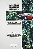 Land Rover Freelander (Lr2) Official Workshop Manual: 2001, 2002, 2003: Covering K Series 1.8 L & 2.5 L Petrol Engines & Series 2.0 L Td4 Diesel Engines