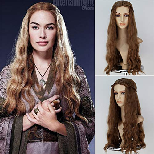 Longlove Jon Snow Hair Short Curly Fluffy Black Costume Cosplay Wig inspired by Game of Thrones (Cersei Lannister -