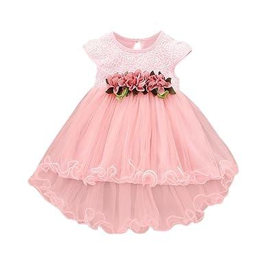 9c682f38b5026 Oyedens Fille 0 à 24 Mois Vetement Bebe Fille Ete Fleur Robe De Princesse  Fille Chic