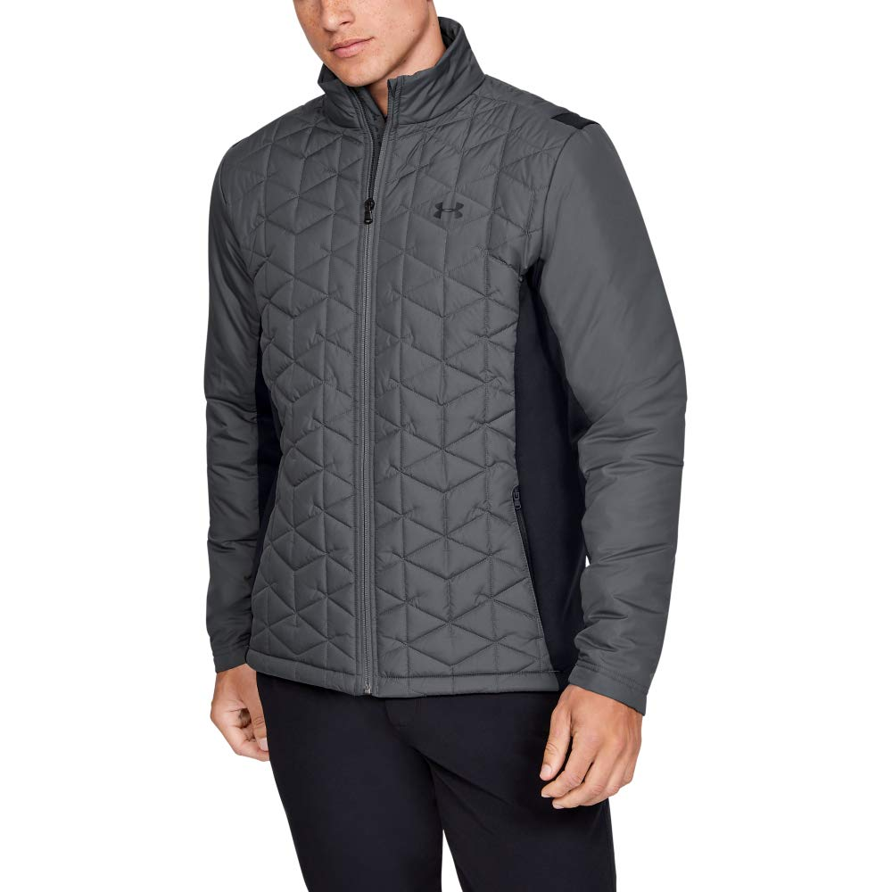 Under Armour Coldgear Reactor Elements Hybrid Jacket, Pitch Gray (012)/Black, Medium by Under Armour