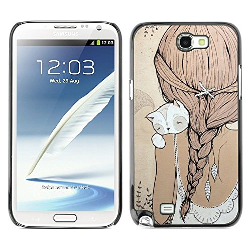 Plastic Shell Protective Case Cover || Samsung Galaxy Note 2 N7100 || Polygon Art Quilted White @XPTECH