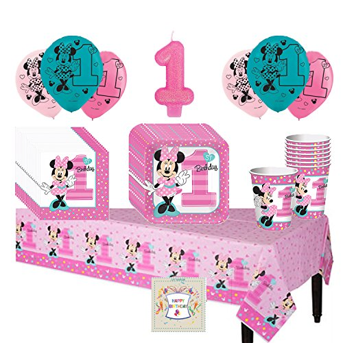 Minnies 1st Birthday Fun To Be One Deluxe Party Pack Bundle