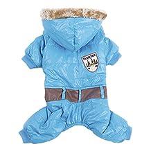Lesypet Snowsuit Dogs Winter Coat Dog Winter Apparel --Blue X-Large by LesyPet