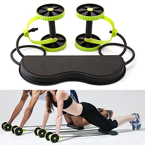 CHRONSTYLE Double AB Roller Wheel Exercise Equipment Abdominal Workout Machine, Ideal Men Women Home Gym Coaster Pull…