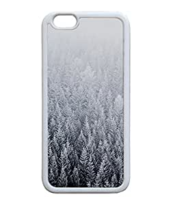 VUTTOO Iphone 6 Case, Forest Snow Parallax Slim Case for Apple iPhone 6 4.7 Inch TPU Bumper White