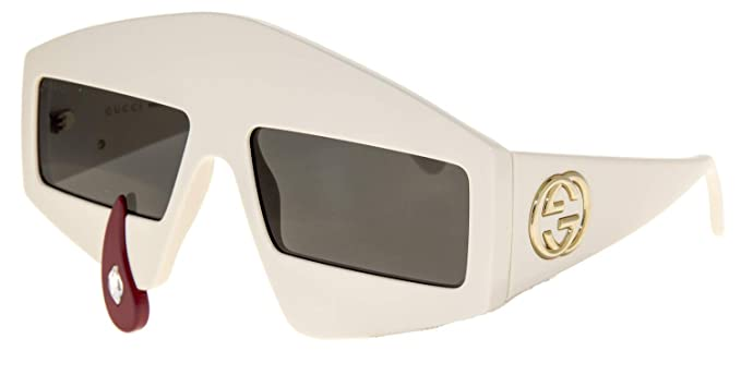 169640151ad Amazon.com  Sunglasses Gucci GG 0359 S- 002 IVORY GREY  Clothing