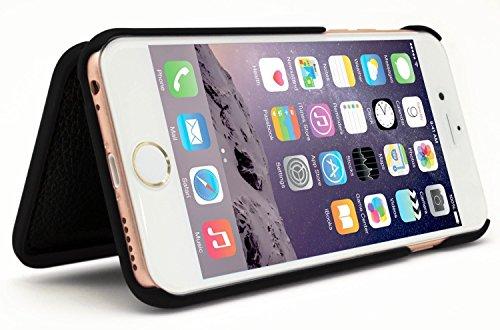 iPhone 6/6S Fall, Bastex verstecktem Rückseite Spiegel Brieftasche Fall mit Ständer Funktion und Kartenhalter für Apple iPhone 6, 6S 11,9cm-Schwarz