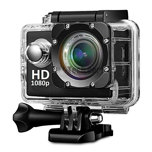 OPTIKO Sport Action Camera 2 inch LCD Screen 16 MP Full HD 1080P with 170? Ultra Wide Angle Lens