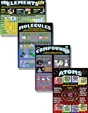 McDonald Publishing MCP153 Atoms, Elements, Molecules and Compounds Poster (Pack of 4)