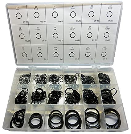 External Retaining Ring Kit - Carbon Steel Phosphate. Made in The USA! SAE Products RRK-EXI
