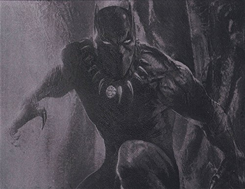 Black Panther Metal Poster Marvel Avengers Spray Paint Art by Art of Steel