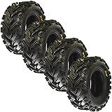 Set of 4 SunF A041 ATV/UTV Tires 25x8-12 & 25x10-12, 6 Ply