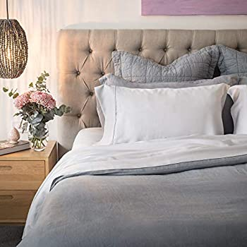 Olive + Crate Tencel King and Queen Size Sheets Set, Cool, Hypoallergenic and Moisture-Wicking Bedding for Soothing Sleep Fitted Sheet Two Pillow Cases and Flat Sheet, Extra Deep Pockets, Gray Mist