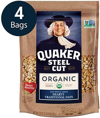 Oatmeal: Quaker Steel Cut Oats Organic