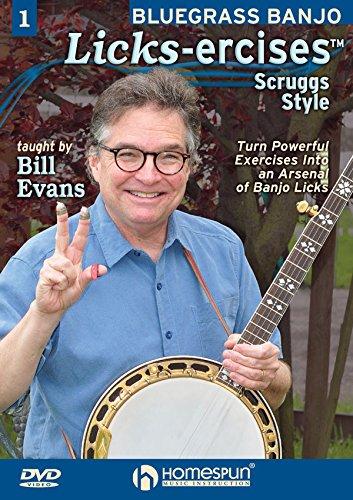 Bluegrass Banjo Licks-ercises DVD#1 Scruggs Style (Bluegrass Banjo 1 Dvd)