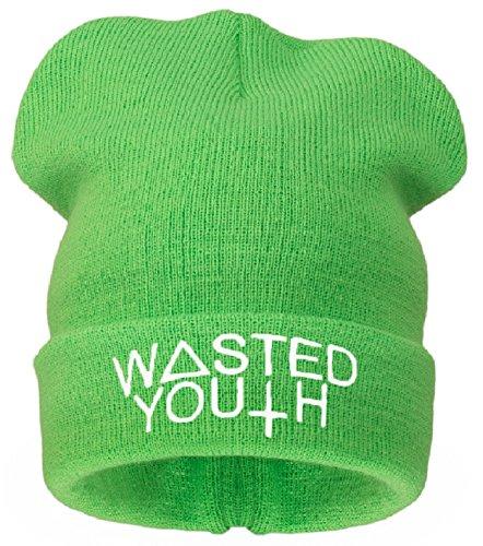 4sold día en mala el pelo DESOBEDECER * CKDOWN COMME DES F OFWGKTA binnie pierde gafas con para niños gorro de T-camiseta bieber justin piedras de la bandera de sombreros de verano soporte de alambre Wasted Youth ( noe green)